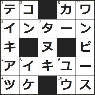 クロスワード 答え (1)支点、力点、作用点と言えば