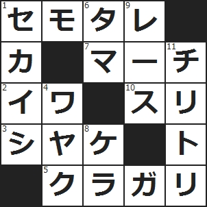 クロスワード(1)スツールにはない部分